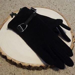 Ralph Lauren Black Womens Gloves Sz MD NEW